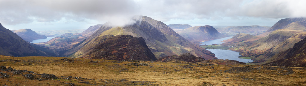 Enerdale and Buttermere valleys from Brandreth summit 2012
